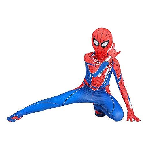 Spiel Charaktere Kostüm - SDFXCV Ps4 Spiderman Kostüm Spiel Charakter Strumpfhosen Halloween Cosplay Overall 3D Lycra Spandex Kostüm,Kids-XL(Height55-60Inch)