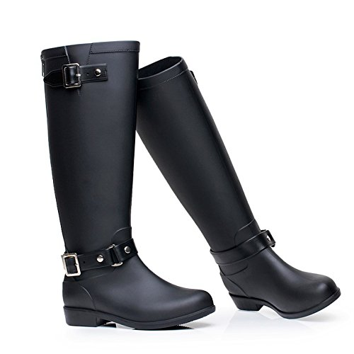 1c32e54aa9443 Acqua alla moda scarpe stivali alto fibbia stivali zip High-end Stivali  donna stivali da pioggia impermeabile