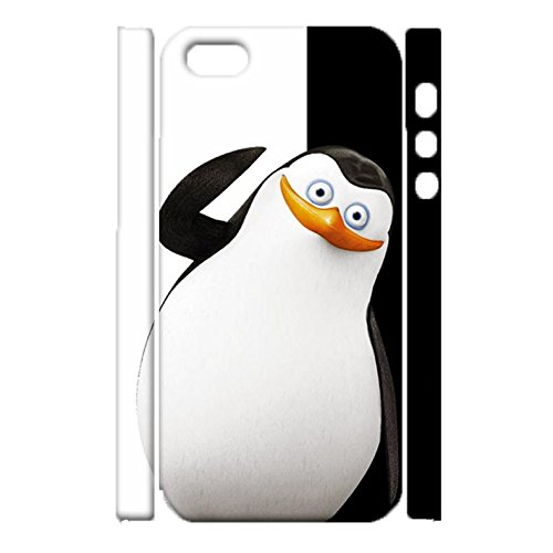 iPhone 5/5s/SE Cover Case,Fantastic Visual Penguins Print Image Printed Shell 3D Hard Plastic Cover for iPhone 5/5s/SE Phone Case