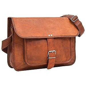 41aTVyLGGTL. SS300  - Gusti Maletín Cuero - Ollie Cartera portafolios Bandolera marrón