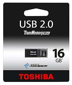 Toshiba THNU16SIPBLACK(BL5 16GB TransMemory-Mini USB 2.0 Flash Drive - Black