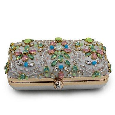 Woman Fashion Luxus Hochwertige Nachahmung Diamanten Abend Tasche Silver