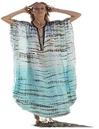 BARBEBBLACKROSE Falda de Playa, Top de Bikini, Falda Larga, Vestido Estampado, Vestido Bohemio, Vestido de Protector Solar, Batas…