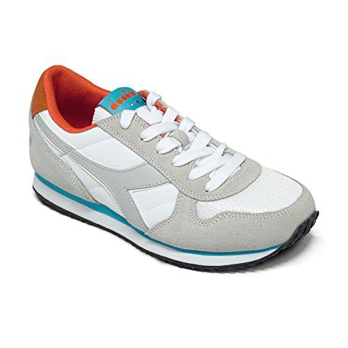Diadora Damen K-Run W Pumps White Cyan / Blue Fluo