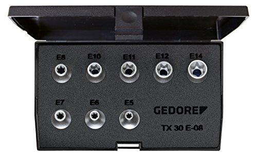 Preisvergleich Produktbild GEDORE Steckschlüssel-Satz 3/8 Zoll, 8-teilig Außen-Torx E5-E14, 1 Stück, TX 30 E-08