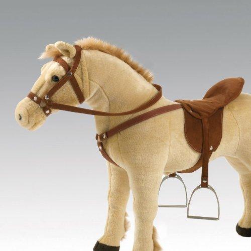 Happy People Spielzeug Sattel mit Metall-Steigbügel, Zaumzeug für Plüschpferde