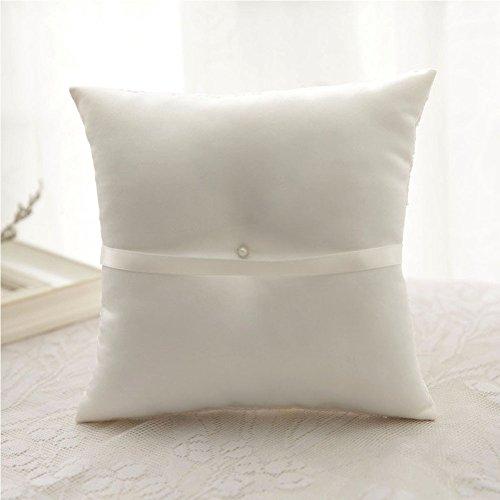 Cuscino per anelli Cuscino bianco per matrimonio (Farfalla) - 5