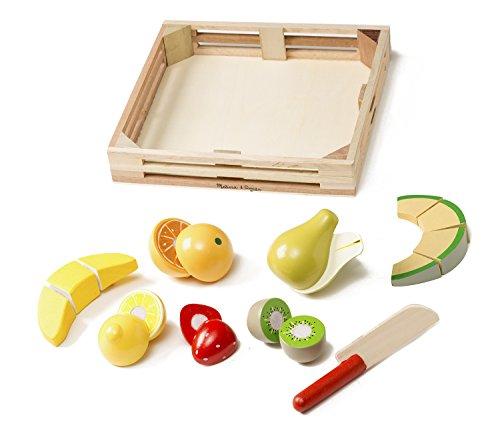 Melissa & Doug 14021 Cutting Fruit Set - Wooden Play Food Kitchen Accessory