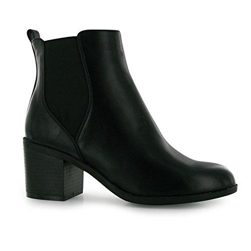 Miso Femmes Mojito Chelsea Chaussures Bottes Bottines Talon Haut Decontracte Noir