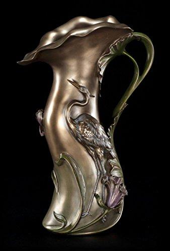 Jugendstil Vase mit Fischreiher - Veronese Art Nouveau