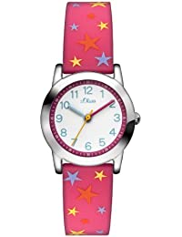 s.Oliver Mädchen-Armbanduhr Analog Quarz Silikon SO-2895-PQ