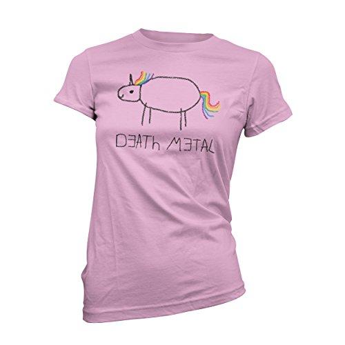 Death Metal Unicorn Girly T-Shirt, Grösse S