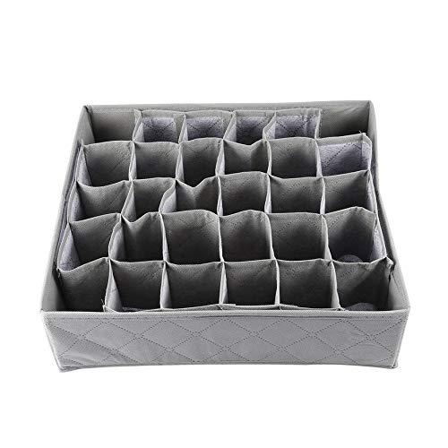 Una scatola di immagazzinaggio dell'organizzatore dell'armadio del cassetto dei calzini del legame dei calzini del legame del carbone di legna della scanalatura di griglia 30