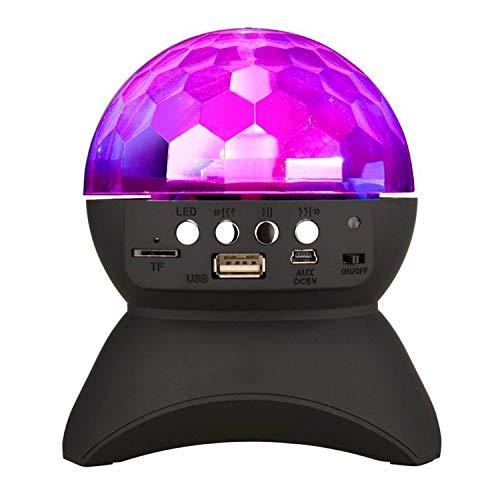PROM Family Party Speaker Bunte Lichter/DJ Stage Rotierende Lichter/Drahtlose Bluetooth-Lautsprecher/Kinder Weihnachtsgeschenke,Black