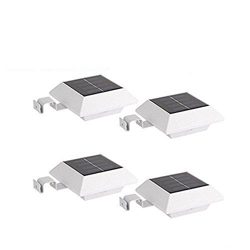 200LM LED PIR Sensor Solarlampe Drahtlos Kaltweiß 7000K Solarleuchte Solar Leuchte Lampe mit Bewegungsmelder Wasserdicht Sicherheit Licht für Garten, Outdoor, Terrasse, Haus, Auffahrt, Treppen, Zaun etc(Weiß 4-pack)
