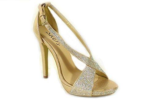SKOS , Sandales pour femme Gold (191-04)