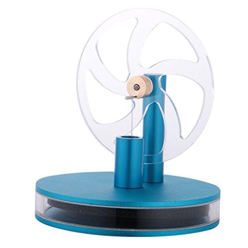 Sharplace Niedrige Temperatur Stirling Motor Stirlingmotor Modell Physik Lehrmittel Kinder Pädagogisches Spielzeug - Blau-Niedertemperatur Motor, Ca. 10 * 11.5cm