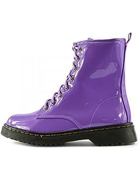 Kick Footwear - Damen Knöchel retro-combat-boot-womens lace funky vintage goth martin ankle boot