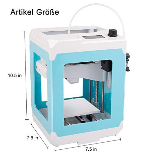 DEMU 3D Drucker Mini Printer Easier Desktop PLA Filament DIY Bildschrim USB - 6