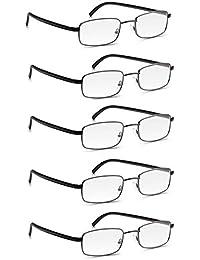 Lunettes de Lecture Read Optics 5 Paires avec Cadre en Métal  Lunettes qui  Facilitent la 71a5bf2a2ab2