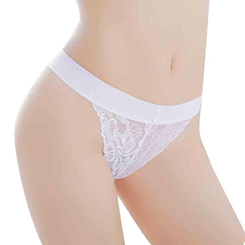Hansee Frauen Sexy Spitzenhöschen Nahtlose Atmungsaktive Hohle Briefs Mädchen Unterwäsche (Weiß) (Baumwolle Underwire Nahtlose)
