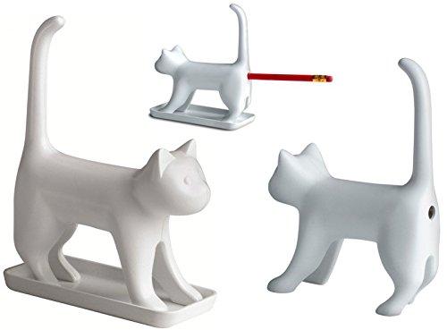 Cat Miauende Bleistiftspitzer Katze in weiß - Kätzchen Anspitzer Spitzer miauen