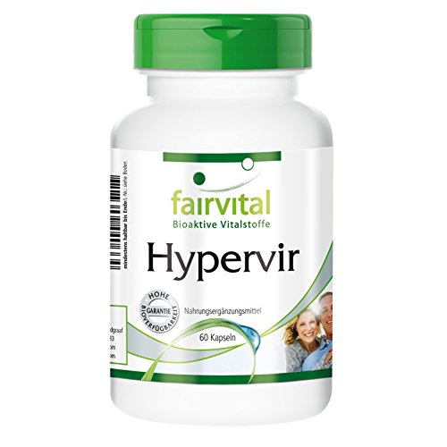 Hypervir - VEGAN - 60 Kapseln - mit L-Arginin, Jujube, Ginseng u. Ginkgo - für Männer
