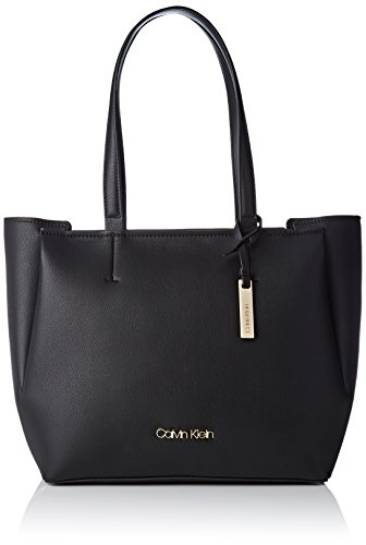 Calvin Klein Jeans Damen Step Up Shopper Tote, Schwarz (Black), 16x29x51 cm