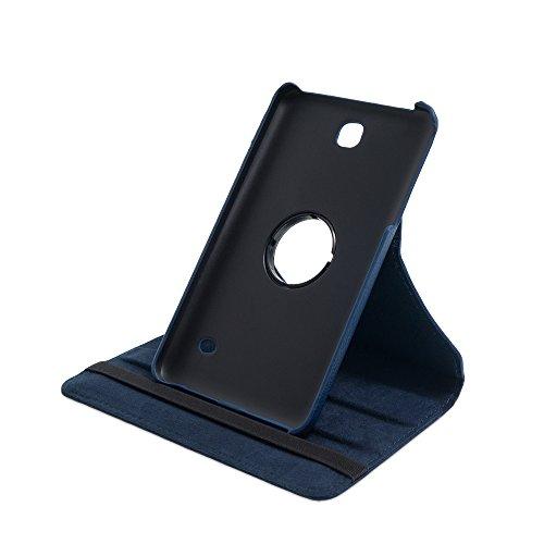 Drehbare Hülle mit Standfunktion für Samsung Galaxy Tab 4 7.0 in BLAU mit automatischer Sleep- und Wake-Up-Funktion [passend für Modell SM-T230, SM-T235]