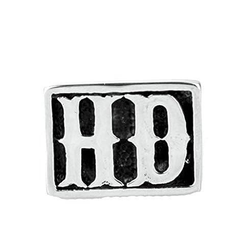 Epinki Jewelry Stainless Steel Vintage Punk Rock Men Silver Rock Letters Hd Ring 3CM Size T 1/2