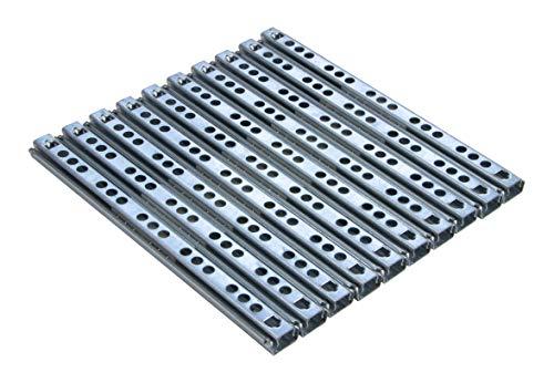 Gedotec Teleskopauszug Schubladenauszug 17 mm Teleskopschiene für Schubladen | Länge: 310 mm | Stahl verzinkt | Schubladenschienen Teilauszug | Tragkraft 12 kg | 5 Paar - Auszüge für Holz-Schubkästen