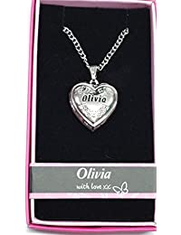 IN MY HEART Named Personalised Love Lockets/ Pendants With Picture Holder Presented Beautifully By Sterling Effectz Z0jTE