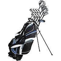 18-teiliges komplettes Herren-Golfschläger-Set mit Titanium-Driver, Fairway-Holz Nr. 3 und Nr. 5, Hybrid Nr. 4, 5-SW-Eisen, Putter, Standtasche, 4H/Cs–wählen Sie Farbe und Größe