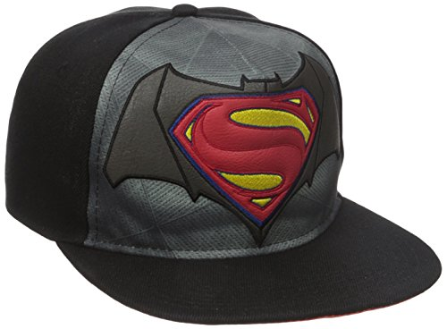 DC Comics Batman vs. Superman Classic Logo Sublimated Bill Snapback Baseball-Cap (Bill-logo-cap)
