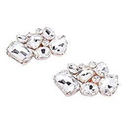 HerZii 2Pcs Luxury Crystal...