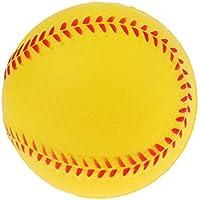 Baoblaze Entrenamiento Béisbol de Seguridad de PU Bolas de Softball Juego de Equipo Deportivo - Amarillo