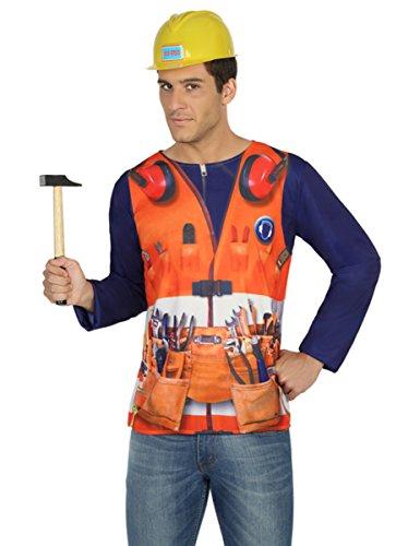 Atosa 29770 Bauarbeiter 3D T-Shirt (Cowgirl Und Indianer Halloween Kostüme)