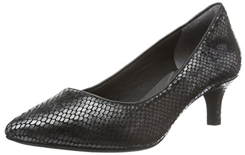 RockportKALILA PUMP - Scarpe con Tacco Donna , Nero (Schwarz (Black Multi Snake)), 40 EU