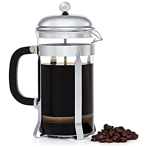 French Press Coffee Maker – Stainless Steel and Dishwasher Safe – 8 Cups/1.0 L/34 oz