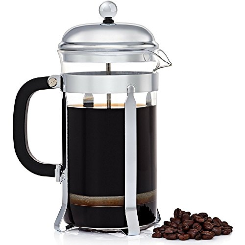 French Press Coffee Maker - Stainless Steel and Dishwasher Safe - 8 Cups/1.0 L/34 oz