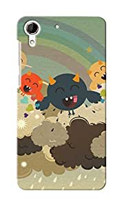 CimaCase Funny Monsters Designer 3D Printed Case Cover For HTC Desire 728