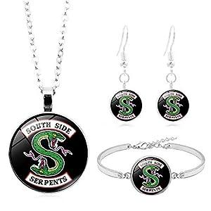 dongguanjingxi Riverdale Jewelry Set, Riverdale Bracelet +Riverdale Necklace +Riverdale Earrings Wristband Wristlet Pendant Chokers Jewelry Accessories
