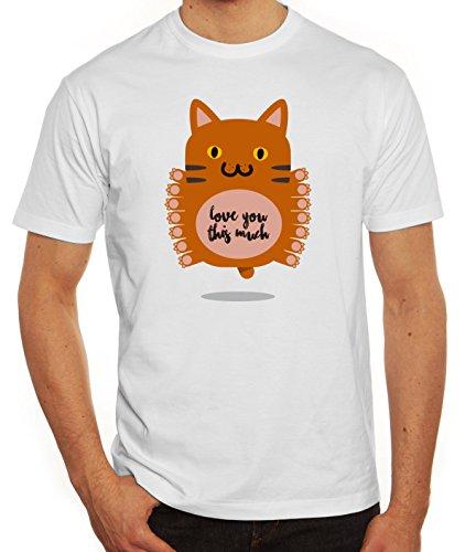 Geschenkidee Herren T-Shirt mit Love You This Much Motiv von ShirtStreet Weiß