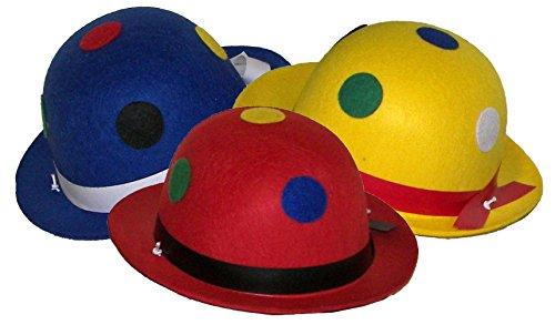 Karneval Klamotten Kostüm Melone Clown mit Punkte Zubehör Fasching Karneval - Clown Hut