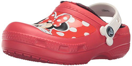 Crocs cc minnie lined clog (toddler / little kid), pepper, 2 m us little kid
