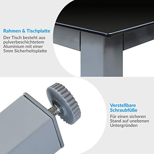 Deuba® Aluminium Sitzgruppe 8+1 Silber - 5
