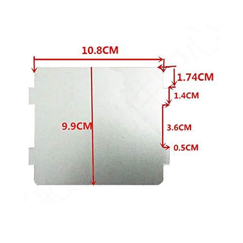 2pcs microondas horno partes Slice de mica Super de grosor aislamiento de calor accesorios