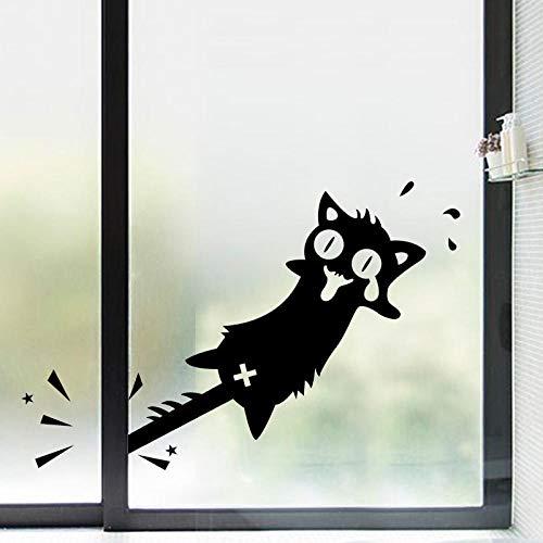 y Cat Sticker Halloween SerieWandaufkleber Schlafzimmer Wohnzimmer Wand Hintergrund Dekoration Aufkleber 43X25Cm Wand Deko Für Wandsticker Wandtattoo ()