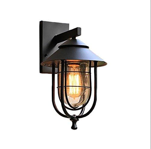 ZT Appliques imperméable Métal E27 abat-jour LED Edison Industriel Moderne Intérieur Chevet Fixation Éclairage
