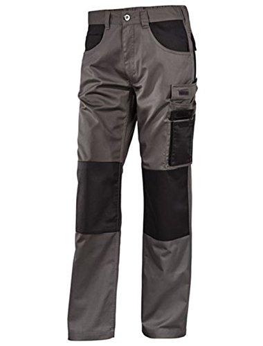 Herren Arbeitslatzhose Latzhose Arbeitshose Hose Profi Arbeitskleidung Grau Bundhose 60 (Herren Arbeitskleidung)